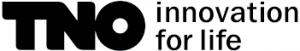Het logo van een partij waar wij voor werken getiteld tno